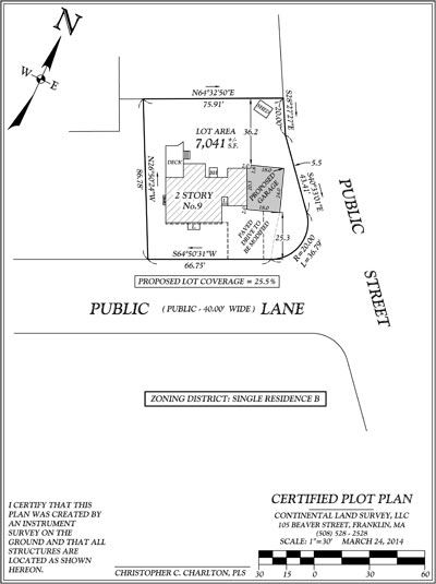 SAMPLE PLOT PLAN CORNER LOT